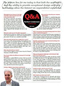 Interview mit Norbert Lindemann (Englisch)