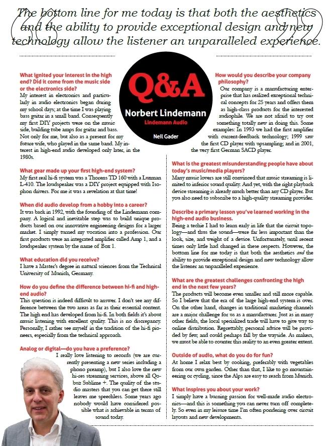 Interview with Norbert Lindemann